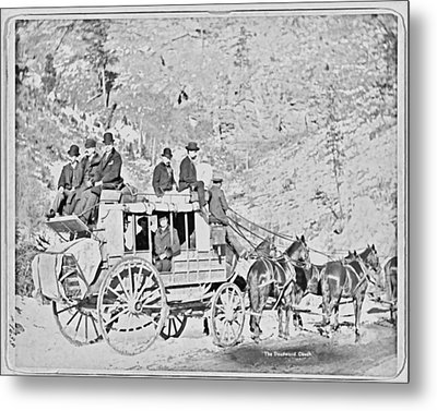 The Deadwood Coach Metal Print
