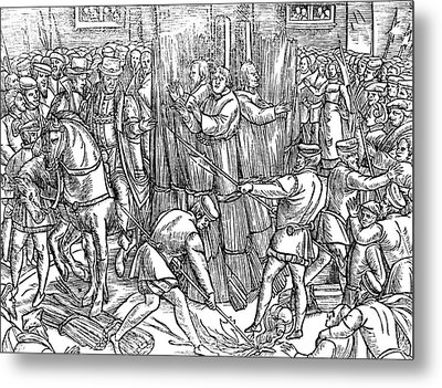 The Death And Burning Of The Most Constant Martyrs Of Christ Metal Print by English School