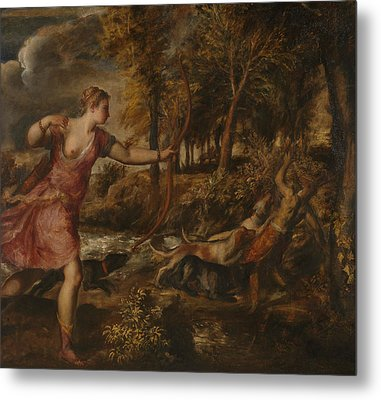 The Death Of Actaeon Metal Print