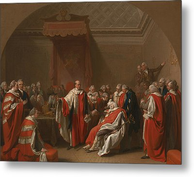 The Death Of Chatham Metal Print by Benjamin West