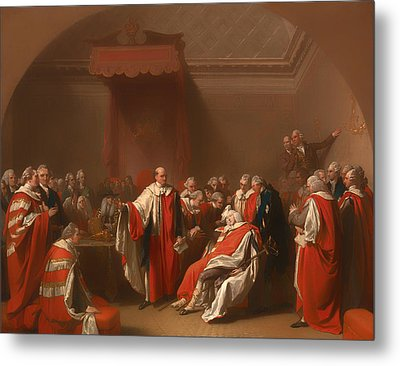 The Death Of Chatham - William Pitt 1st Earl Of Chatham Metal Print