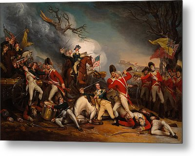 The Death Of General Mercer At The Bottle Of Princeton Metal Print