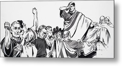 The Death Of Julius Caesar Metal Print by English School