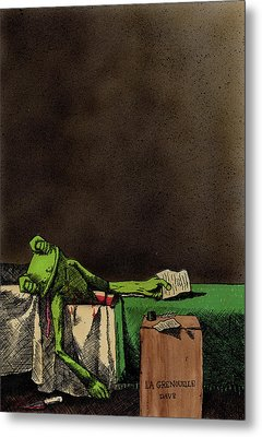 The Death Of La Grenouille Metal Print by Bizarre Bunny