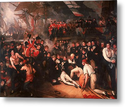 The Death Of Nelson Metal Print