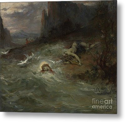 The Death Of Orpheus Metal Print