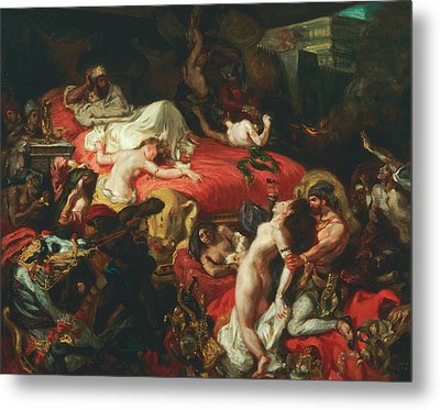 The Death Of Sardanapalus Metal Print by Eugene Delacroix