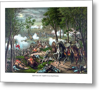 The Death Of Stonewall Jackson Metal Print by War Is Hell Store