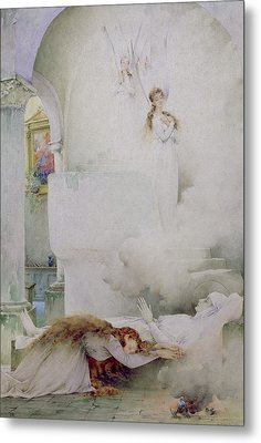 The Death Of The Virgin Metal Print by Guillaume Dubufe