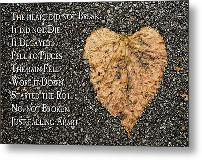 The Decay Of Heart Metal Print