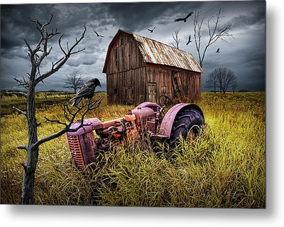 Metal Print featuring the photograph The Decline And Death Of The Small Farm by Randall Nyhof