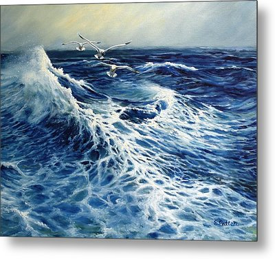 The Deep Blue Sea Metal Print by Eileen Patten Oliver
