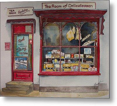 The Deli Tea Room Metal Print by Victoria Heryet