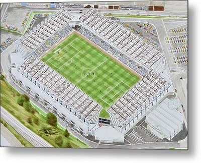 The Den Stadia Art Metal Print by Brian Casey