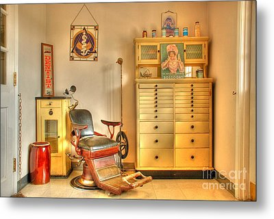 The Dentist Office Metal Print by Tony  Bazidlo