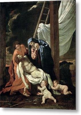 The Deposition Metal Print by Nicolas Poussin