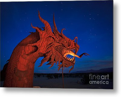 The Desert Serpent Under A Starry Night Metal Print by Sam Antonio Photography