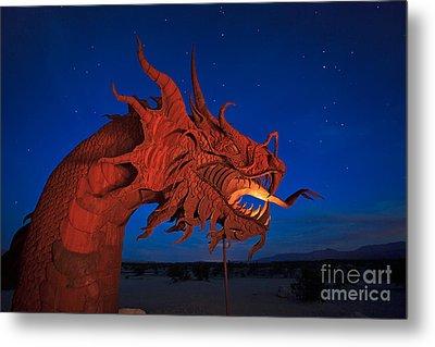 The Desert Serpent Under A Starry Night Metal Print