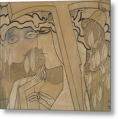 The Desire And The Satisfaction Metal Print by Jan Theodore Toorop