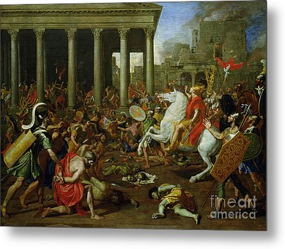 The Destruction Of The Temples In Jerusalem By Titus Metal Print by Nicolas Poussin