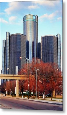 The Detroit Renaissance Center Metal Print by Gordon Dean II