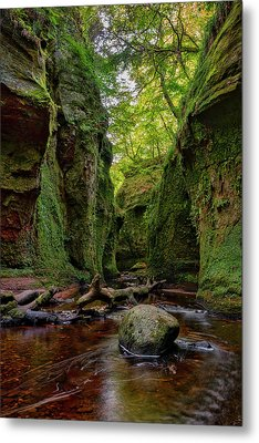 The Devil Pulpit At Finnich Glen Metal Print by Jeremy Lavender Photography