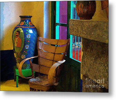 The Dining Room Corner In Frida Kahlo's House Metal Print