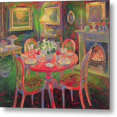 The Dining Room Metal Print by William Ireland