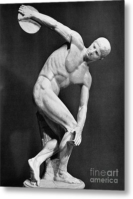 The Discobolus, 450.b.c Metal Print by Granger