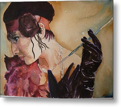 Metal Print featuring the painting The Diva by P Maure Bausch