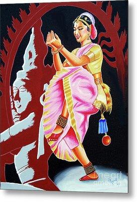 The Divine Dance Of Bharatanatyam Metal Print