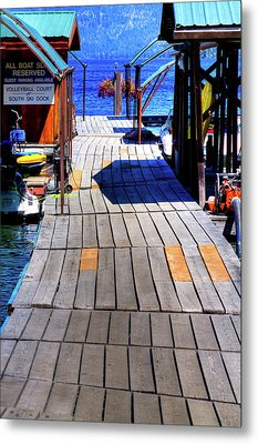 The Dock At Hill's Resort Metal Print by David Patterson