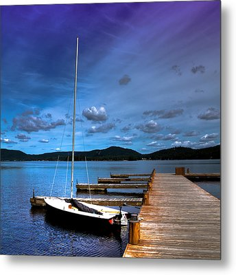 The Dock At The Woods Inn Metal Print by David Patterson