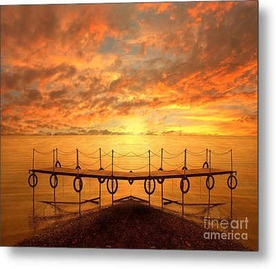 The Dock Metal Print by Jacky Gerritsen