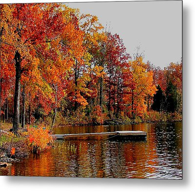 The Dock Metal Print by Rick Friedle