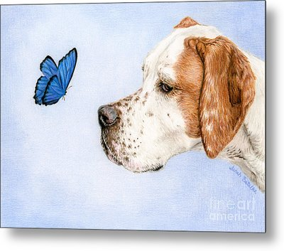 The Dog And The Butterfly Metal Print
