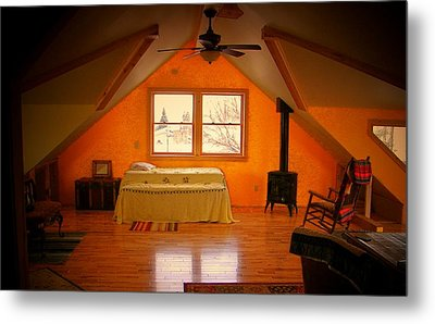 The Dog's Bed Metal Print by Lenore Senior