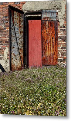 The Door Metal Print by Alan Skonieczny