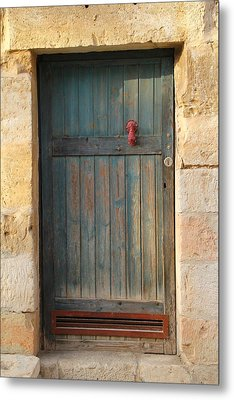 The Door And The Hand Metal Print by Yoel Koskas