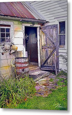 The Door Is Always Open Metal Print by Nancy Griswold