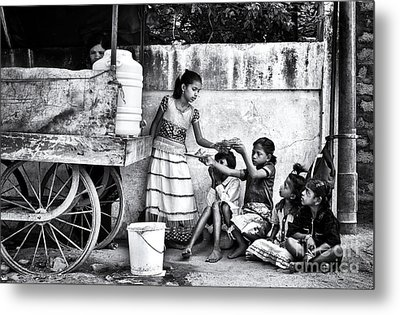 The Dosa Cart Metal Print by Tim Gainey