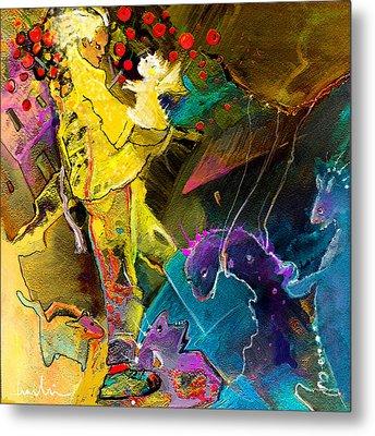 The Dragon Nursery Under The Apple Tree Metal Print by Miki De Goodaboom
