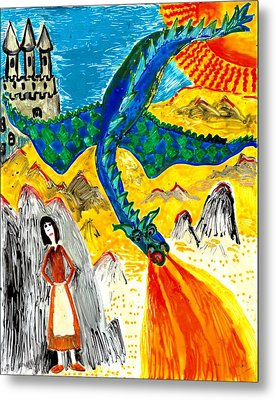 The Dragon Metal Print by Sushila Burgess