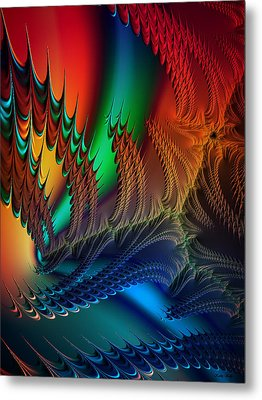 Metal Print featuring the digital art The Dragon's Den by Kathy Kelly