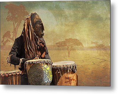 The Dream Of His Drums Metal Print by Christina Lihani