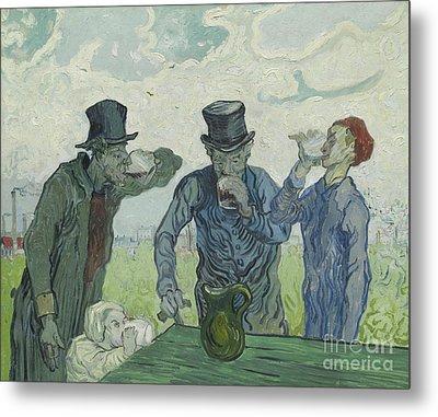 The Drinkers Metal Print by Vincent Van Gogh