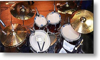 The Drum Set Metal Print