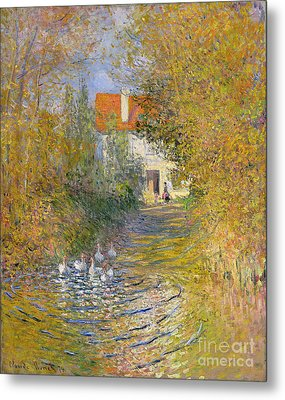 The Duck Pond Metal Print by Claude Monet