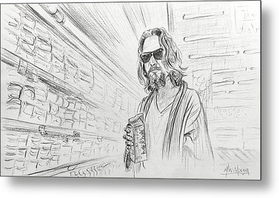 The Dude Abides Metal Print by Michael Morgan