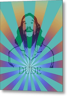The Dude Pyschedelic Poster Metal Print